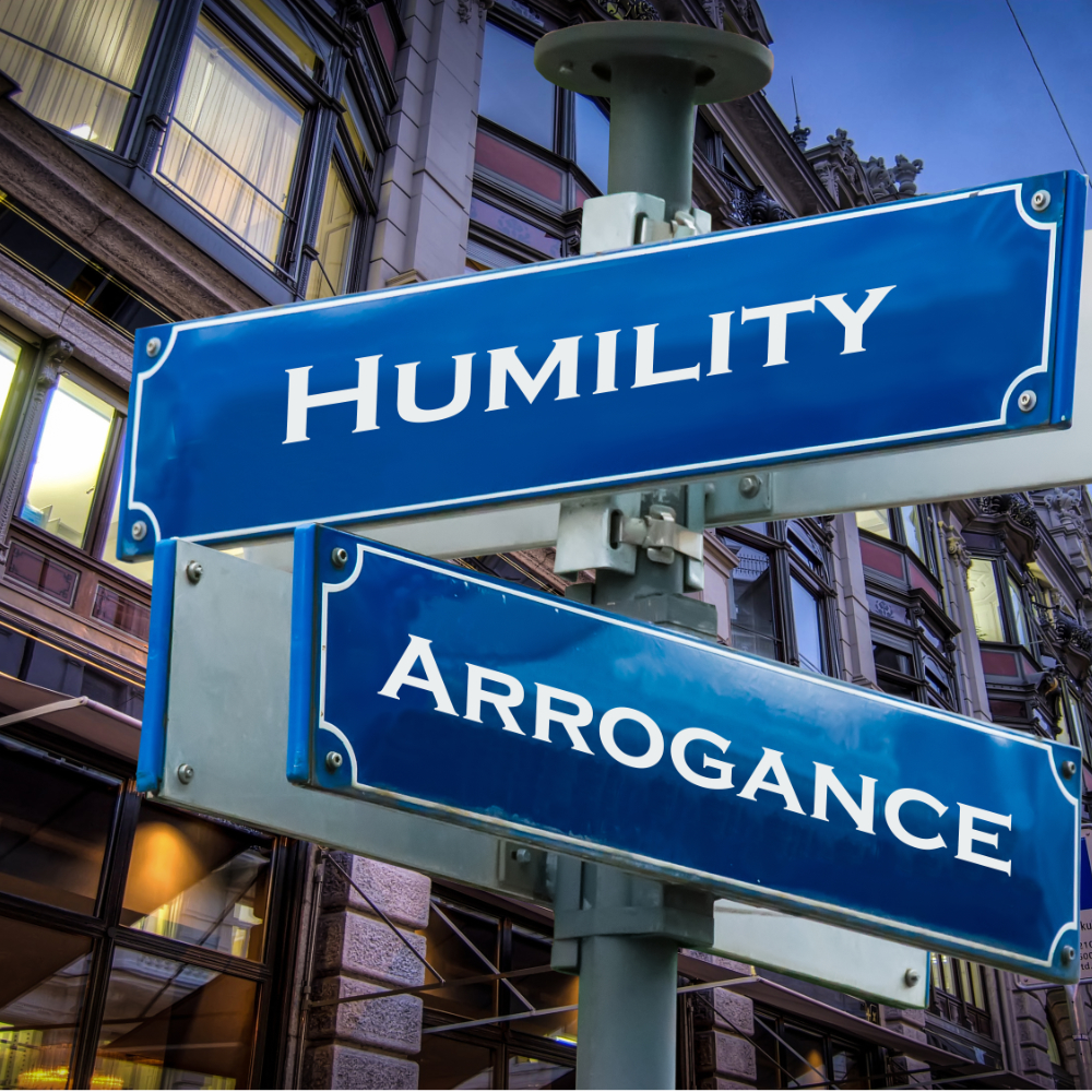 Humilty helps prevent corruption.